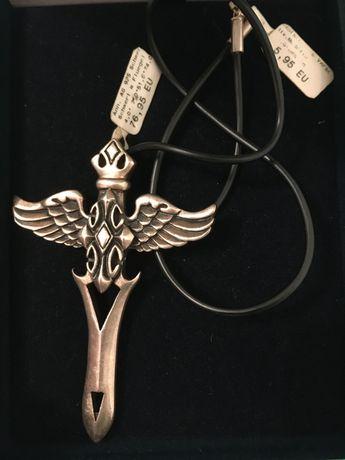 Меч с крыльями. Серебро 925 (34.7гр).  Змея на кресте(41гр). Германия.