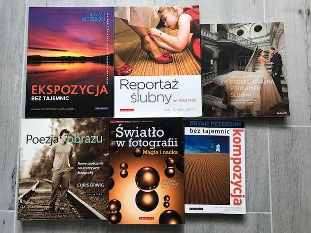 Biblioteczka fotografa, książki fotograficzne foto, fotografia stan+++