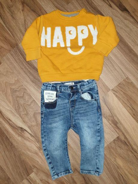 Bluzki spodnie jeans 80 zara f&f