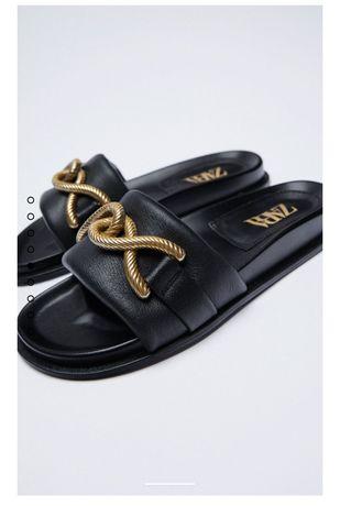 Sandália de Pele Zara