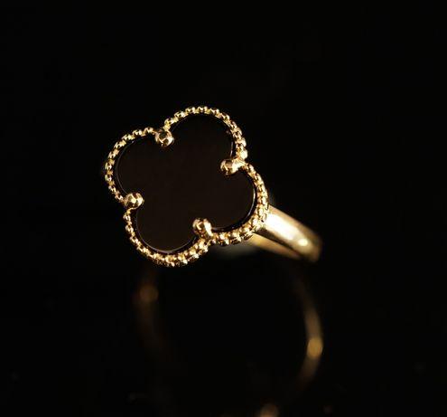 Złoto 585-Złoty pierścionek damski Van Cleef rozm 13