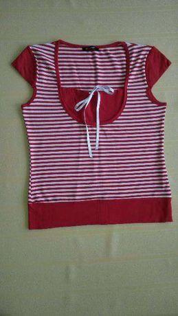 Bluzka w paski biało czerwone 36