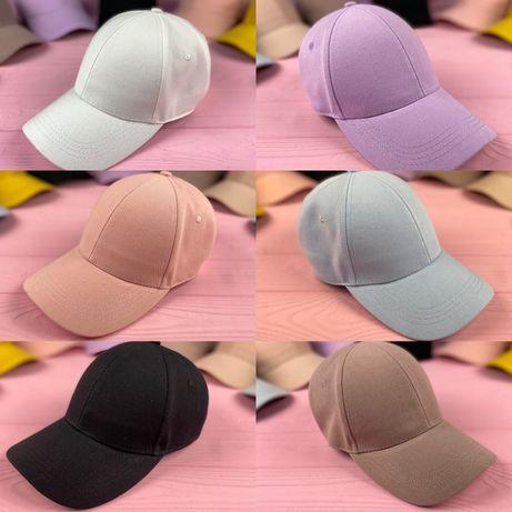 Женская кепка бейсболка блайзер розовая белая бежевая черная кепка