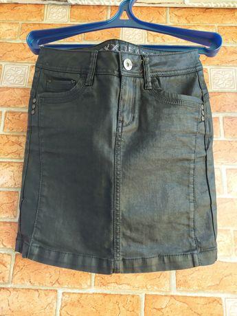 Юбка джинсовая черная
