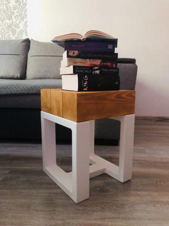 Krzesło/ hoker z drewnianych bali loft / indistrial