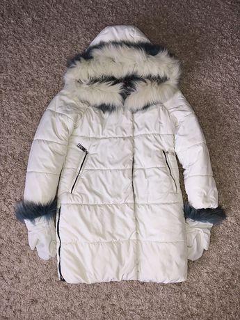 Куртка удлиненная зимняя 128-134
