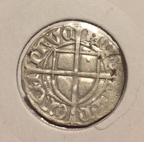 Moneta szeląg krzyżacki zakon krzyżacki - piękna