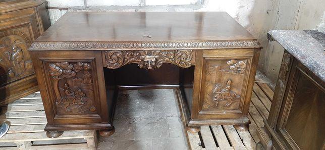 Sprzedam stare rzeźbione biurko komody szafy w stanie bardzo dobrym