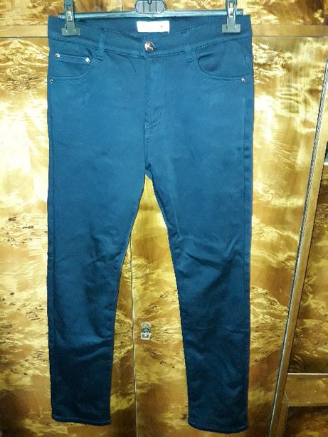 Spodnie ocieplane, granat, r. L