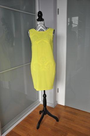 Sukienka jaskrawo-żółta