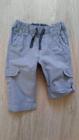 Spodnie bermudy szorty spodenki h&m 74 80 dla chłopca