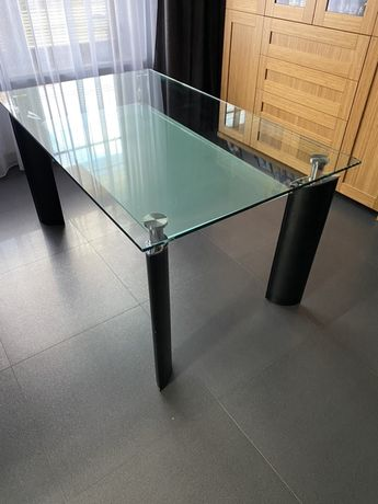 Szklany stół 150x90 cm