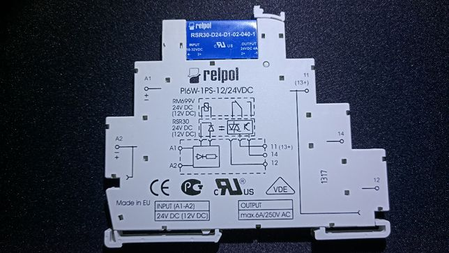 Интерфейсное реле PIR6W1PS24VDCO 24 Вольта