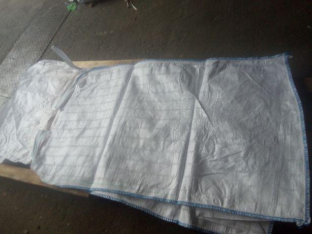Worki Big Bag Nowe Wentylowane 90/90/180cm Klapa/Lej Białe 1250kg
