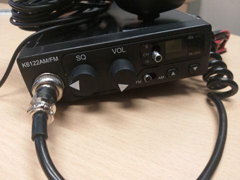 CB radio antena mikrofon K6122 AM/FM, mobilki