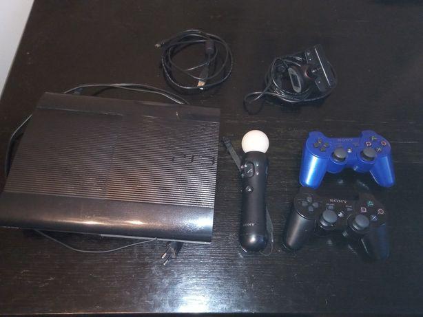 PlayStation 3 PS3 super slim SONY zestaw kamera pady motion stick