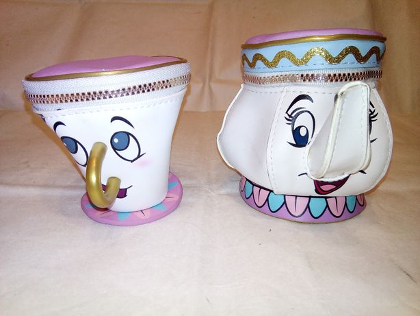 """Детские косметички """"Чашка и Чайник"""" из мультика «Красавица и Чудовище"""""""