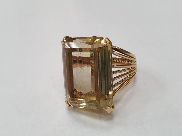 Ogromny! Retro! Złoty pierścionek damski/ 750/ 15 gram/ R17/ Orient
