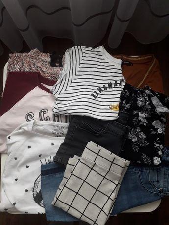 Mega paka, zestaw ubrań dla dziewczynki rozm XS/S