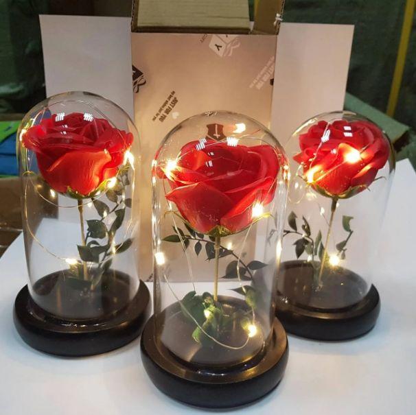 Роза в колбе с LED подсветкой!!! Коцюбинское - изображение 1