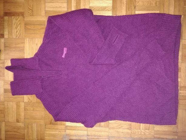 Sweter zimowy Bergans 100% wełna merino stan super