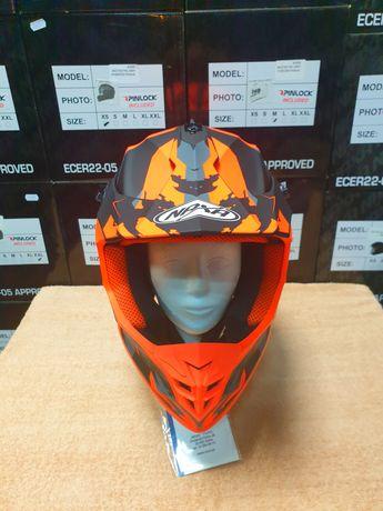NAXA C10/E MAT Kask motocyklowy Cross Quad ATV S-XXL