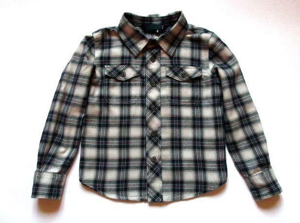 Рубашка в клетку с длинным рукавом, р. 104