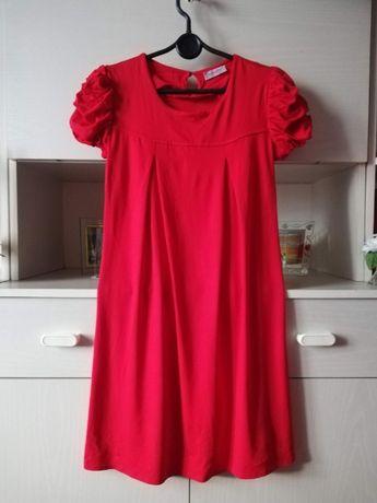 Czerwona sukienka Orsay rozmiar M krótki rękaw