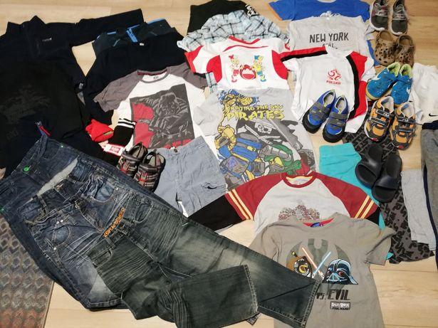 zestaw ubrania chłopiec 8-10 lat bluza spodnie koszulki adidasy paka