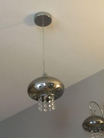 lampy szklane chromowe z kryształkami Marki italux