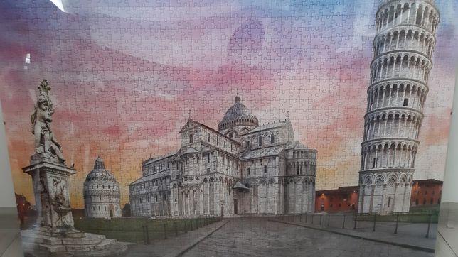 Puzzle 1500 z antyramą
