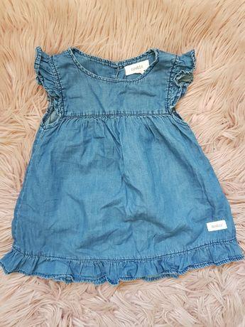 sukienka z falbankami Newbie 86 święta Kappahl guziki
