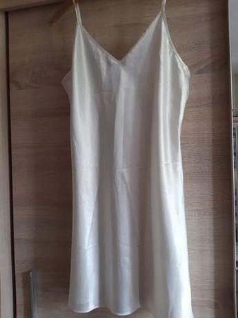 Ночная атласная рубашка