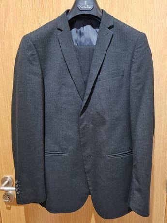 Fato (blazer + calças) slim fit cinzento
