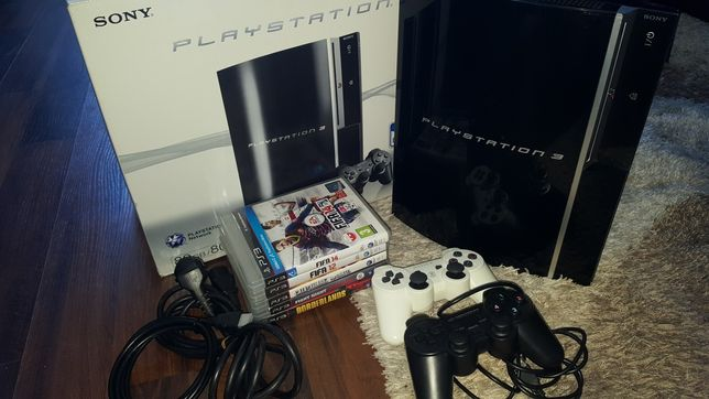 Konsola SonyPlaystation 3 PS3 80Gb + 2 pady + 5 gier