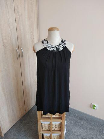 Bluzka czarna odkryte ramiona 38 M New Look