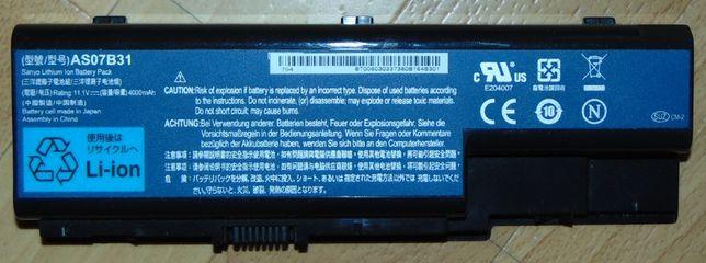 Батарея для ноутбука Acer (AS07B31) оригинал, держит 2-3 часа