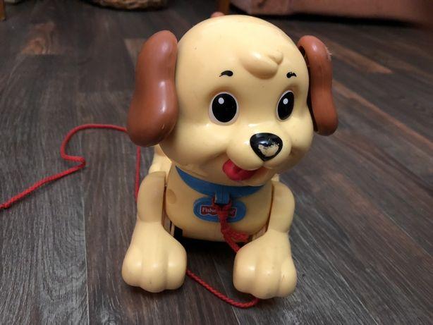 Собака каталка собачка Fisher Price игрушка