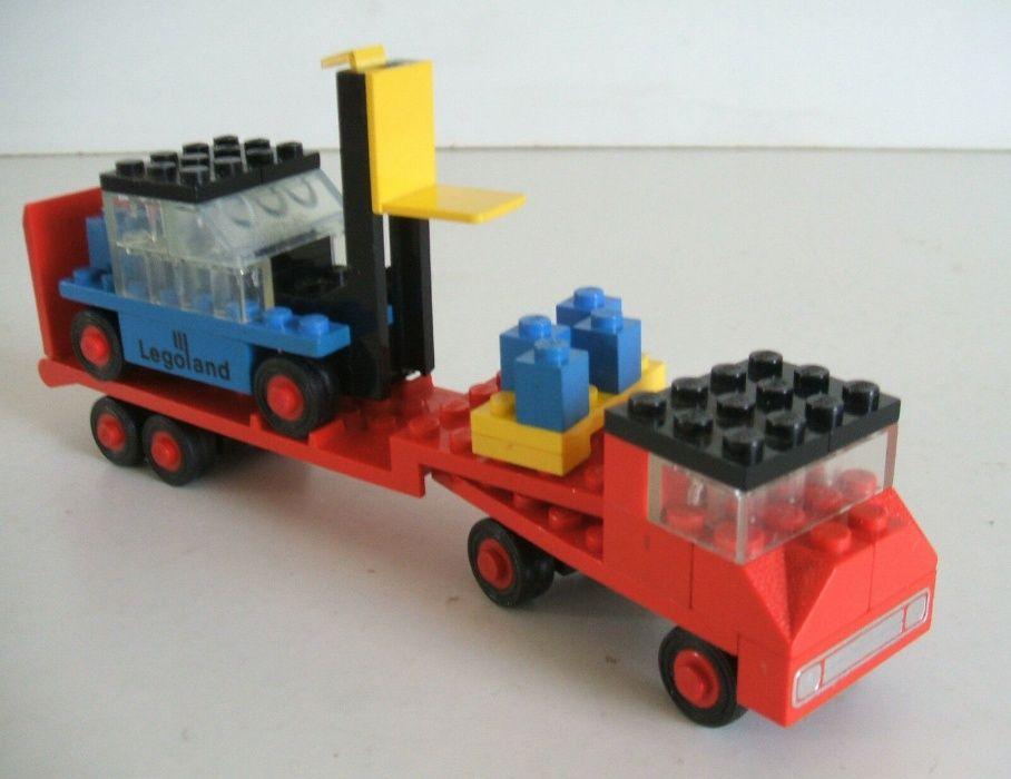 Lego 684 Legoland Konstrukcja niskopodwoziowa z wózkiem widłowym 1974