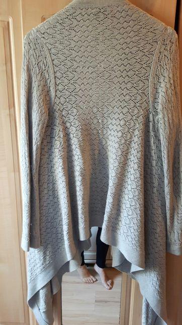 Sweter długi cubus S . szary .