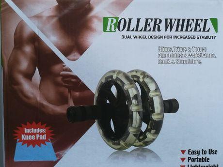 Плоский живот с кубиками.Тренажер для мышц пресса.2 колеса 20 см.