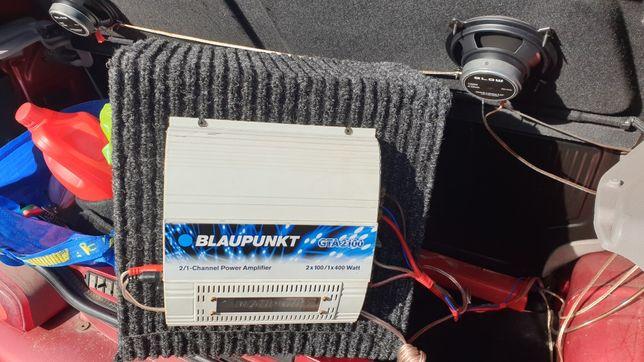 Wzmacniacz samochodowy  Blaupunkt gt2100 plus subwoofer