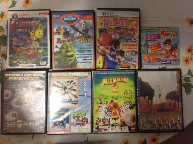 Мультфильмы и игры по мультфильмам на DVD