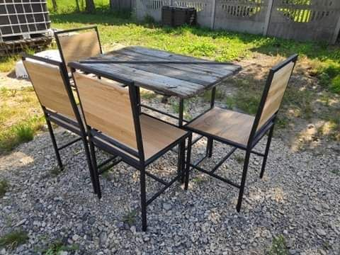 Krzesło loft/industrialne. Drewno dębowe.