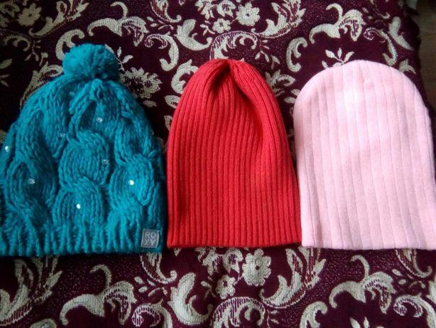 Шапка ROXY 9 10 11лет шапочка с камнями модная красная розовая голубая