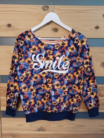 Damska bluza kwiaty smile uśmiech
