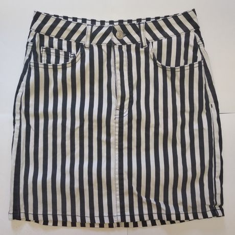 юбка tilly weijl бело-черная в полосочку