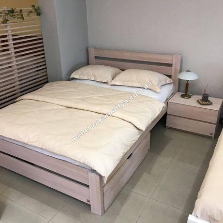 Кровать двуспальная деревянная. Ліжко двоспальне. Доставка бесплатная.