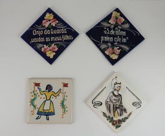 4 Azulejos antigos Faiança Portuguesa