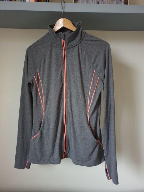 Szara bluza sportowa zapinana na zamek Athletics Works